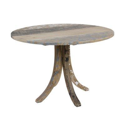 Mesa redonda madera decapada - Imagen 1