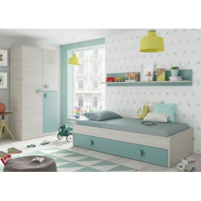Cama Nido Juvenil + Estante Modelo Enjoy 190x90 - Imagen 1