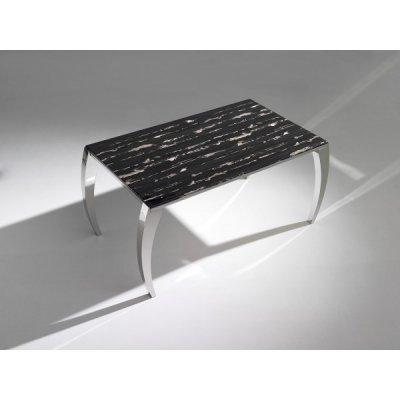 Mesa Comedor Ebano Ebano Acero y Marmol Impreso 150x90 - Imagen 1