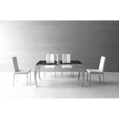 mesas altas de cocina con sillas color blanco ebano