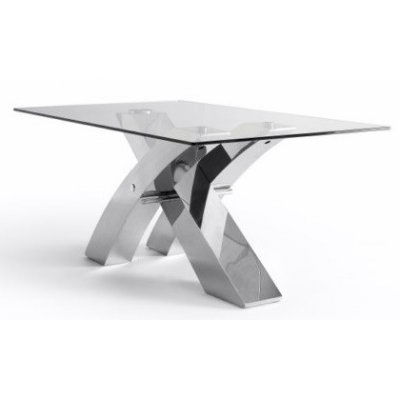 Mesa Comedor Estructura Cromada Modelo Logan - Varias Medidas - Imagen 1