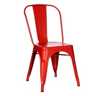 Silla Industrial Tolix Roja - Imagen 1