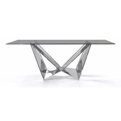 Mesa Comedor Diseño Estructura Cromada Modelo Kroma 200x100 - Imagen 1