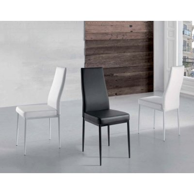 Silla tapizada Blanca - Negra 124 - Imagen 1
