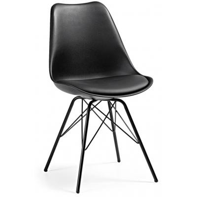 Silla Comedor Lars Estructura de Metal Color Negro - Imagen 1