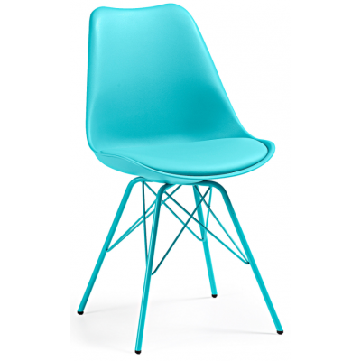 Silla Comedor Lars Estructura de Metal Color Azul - Imagen 1
