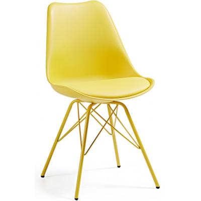 Silla Comedor Lars Estructura de Metal Color Amarillo - Imagen 1