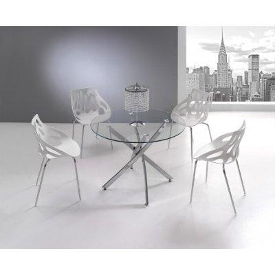 Mesa Comedor Cristal Modelo Fontana   Mobelfy