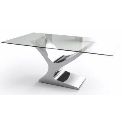 Mesa Comedor Cristal Estructura Cromada Modelo Esparta - Varias Medidas - Imagen 4