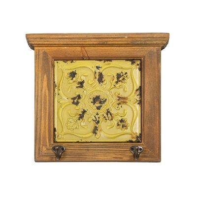 Percha madera amarilla - Imagen 1