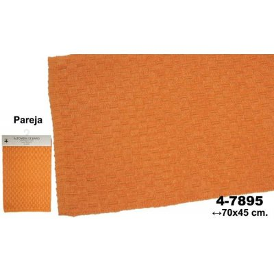 Set 2 Alfombras de Baño Naranjas Deco - Imagen 1