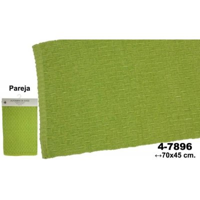 Set 2 Alfombras de Baño Verdes Deco - Imagen 1