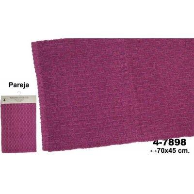 Set 2 Alfombras de Baño Violetas Deco - Imagen 1
