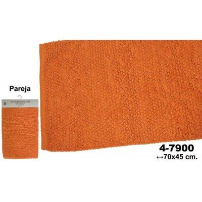 Set 2 Alfombras de Baño Naranjas Circulos - Imagen 1