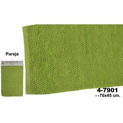 Set 2 Alfombras de Baño Verdes Circulos - Imagen 1