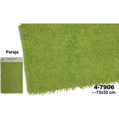 Set 2 Alfombras de Baño Verdes Hilo - Imagen 1