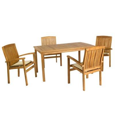 Mesa de teca con 4 sillones - Imagen 1