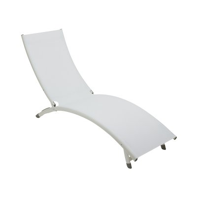 Tumbona de aluminio blanca - Imagen 1
