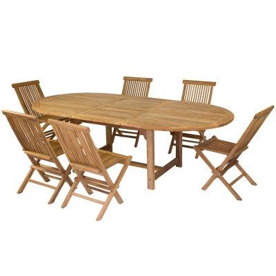 Mesa extensible y 6 sillas - Imagen 1