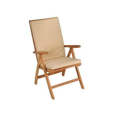 Silla teca natural reclinable - Imagen 1