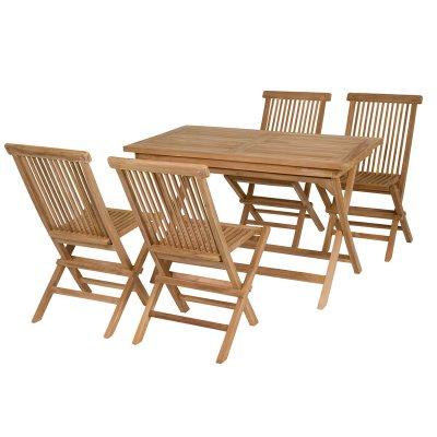 Mesa de teca con 4 sillas - Imagen 1
