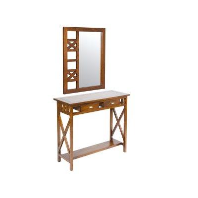 Recibidor rústico con espejo - Imagen 1