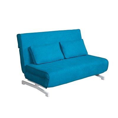 Sofá cama azul - Imagen 1
