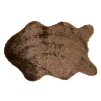 Alfombra sheppskin marrón - Imagen 1