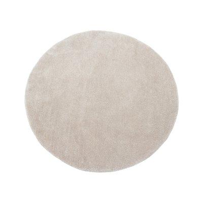 Alfombra redonda beige - Imagen 1