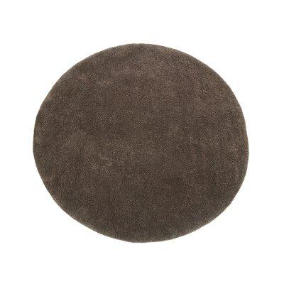 Alfombra redonda marrón - Imagen 1