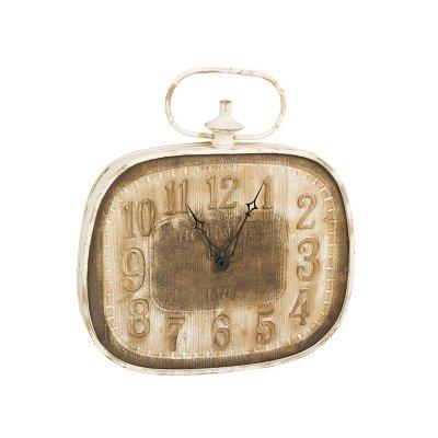 Reloj de pared blanco y marrón - Imagen 1