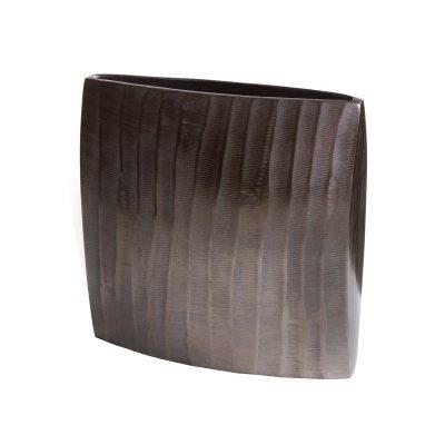 Jarrón cuadrado bronce - Imagen 1