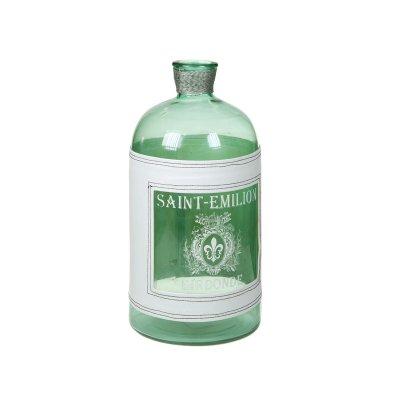 Jarrón botella transparente - Imagen 1