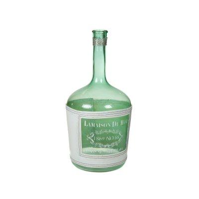 Jarrón botella azul - Imagen 1