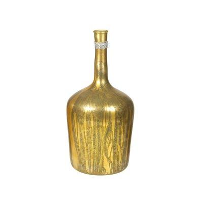 Jarrón botella dorado - Imagen 1