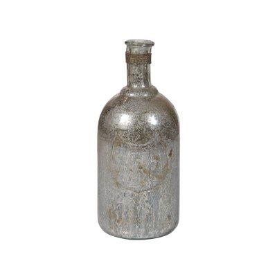 Jarrón botella plateado - Imagen 1