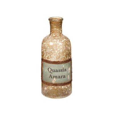 Jarrón botella ámbar - Imagen 1