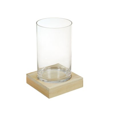 Jarrón de cristal con madera - Imagen 1
