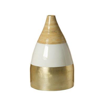 Jarrón de bambú champagne - Imagen 1