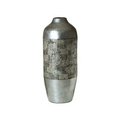 Jarrón bambú cascara y plata - Imagen 1