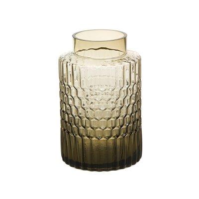 Jarrón cristal marrón café - Imagen 1