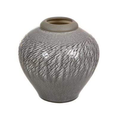 Jarrón de cerámica gris claro - Imagen 1