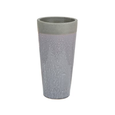 Jarrón de cerámica gris - Imagen 1