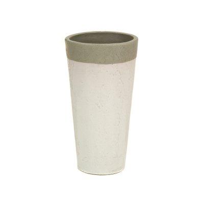 Jarrón de cerámica blanco - Imagen 1
