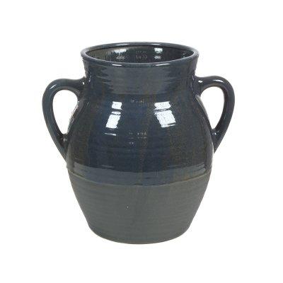 Jarrón cerámica con asas gris - Imagen 1