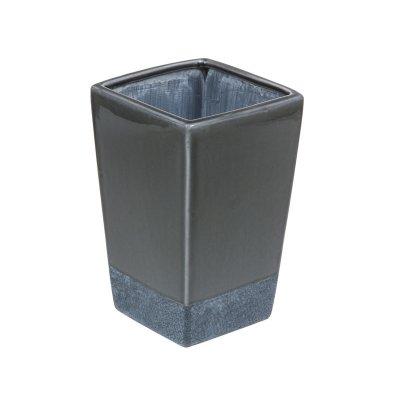 Jarrón cerámica color gris - Imagen 1