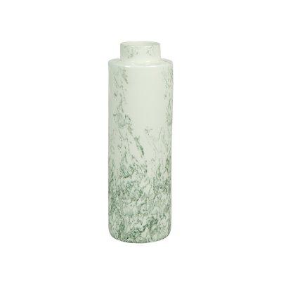Jarrón cerámica blanco gris - Imagen 1