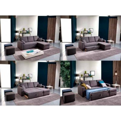 Chaiselongue Cama Modelo Ibiza Color Gris Oscuro - Imagen 1